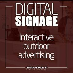 With external digital media we can boost our sales and improve the communication of our brand making the messages closer and more effective thanks to the high technology of Digital Signage.  We know how to make a digital signage circuit successful if you want to know more contact us via e-mail at info@imvinet.com or visit our website www.imvinet.com #digitalboards  #digital  #digitalsignage  #menuboards  #informations  #tecnology    #digitalboards  #informacion  #comunicacion  #tecnologia…