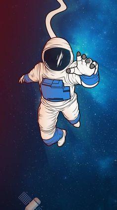 Astronaut in space Wallpaper Minimal Wallpaper, Wallpaper Space, Dark Wallpaper, Screen Wallpaper, Wallpaper Backgrounds, Wallpaper Gratis, Mobile Wallpaper, Paper Wallpaper, Space Drawings