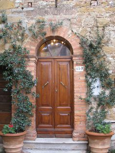 Front door to the villa we stayed in   Montisi, Tuscany, Italy