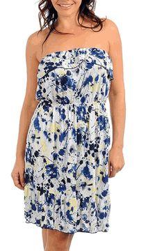 White & Blue Strapless Plus Size Sundress  Item# PSDR103  $32.00