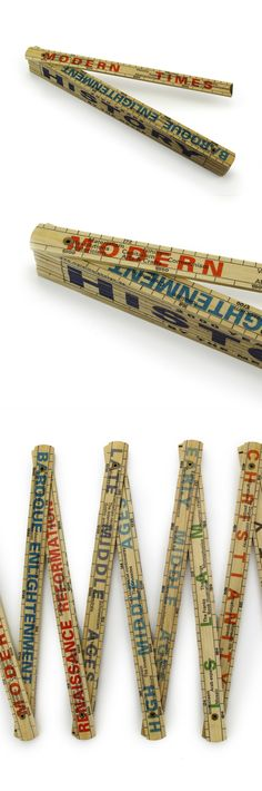 Wooden History Ruler - Learn History by the meter - € 14,95  #souvenir #museumshop