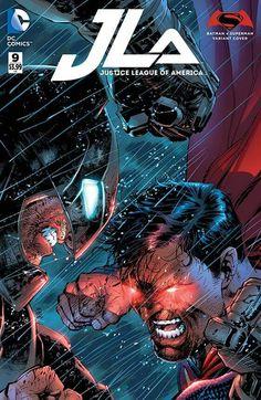 DC Comics - Justice League of America - Jim Lee Batman v Superman Variant Cover Arte Dc Comics, Dc Comics Art, Dc Heroes, Comic Book Heroes, Comic Books Art, Book Art, Clark Kent, Gotham City, Jim Lee Batman
