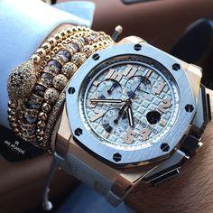 Today's wristgame. Anil Arjandas Jewels bracelets & Audemars Piguet.