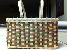 Denim Blues curly basket pattern by Willowe's Baskets 2011