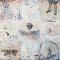 Original Encaustic Painting - On the Verge of Extinction  Encaustic Art by Angela Petsis