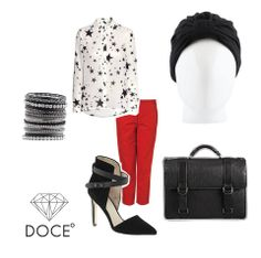 ¡Tocado Basic Black! Un look elegante pero divertido que puedes usar para la oficina. #cancer #fashion #turban #turbante