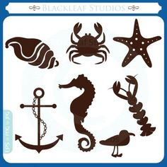 Beach Silhouette   Blackleaf Studios - At the Beach Silhouettes Clipart Set (Powered by ...