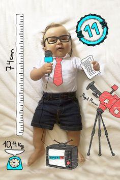 Design criativo para acompanhar o mêsversário dos filhos, sobrinhos, netos.... MigMig Baby Art. Instagram e facebook @migmigbabyart
