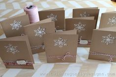Rustic Christmas Cards--would make with my Silhouette
