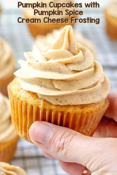Pumpkin Cupcakes with Pumpkin Spice Cream Cheese Frosting - Full of pumpkin flavor and perfect for Fall baking! Pumpkin Cupcakes with Pumpkin Spice Cream Cheese Frosting --- PIN THIS RECIPE --- Are y'all ready for Pumpkin Spice Cupcakes, Pumpkin Dessert, Pumpkin Spice Latte, Pumpkin Pumpkin, Cheese Pumpkin, Pumpkin Cookies, Pumpkin Cream Cheese Muffins, What Is Pumpkin Spice, Pumpkin Drinks