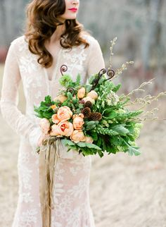 Wild winter bouquet: http://www.stylemepretty.com/2016/07/14/forget-catching-pokemon-catch-these-wedding-bouquets-instead/