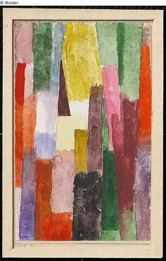 Paul Klee 'Brown Triangle-Right Angle Aspiring Triangle' 1915 Watercolor 21.3 x 13.4 cm(Lost art Internet Database object)