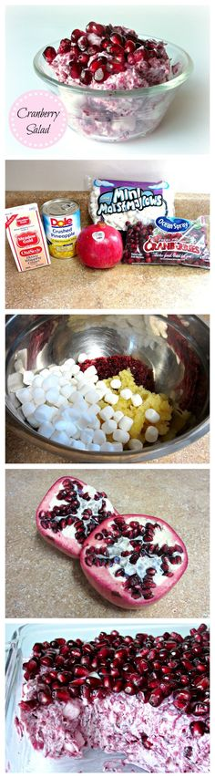 Cranberry Salad- This is so good! Perfect for Christmas! #christmas #sidedishes