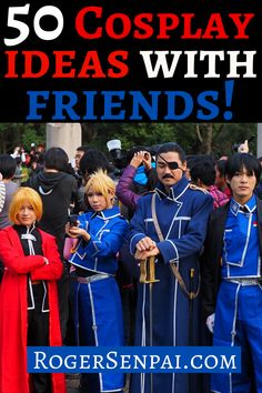 Are you looking for some cosplay ideas for groups? Can't decide which series you guys should cosplay from? Well then, this article is for you.  In this post, I will show you 50  cosplay ideas for groups!  #cosplay #cosplayideas #cosplaytips Easy Cosplay, Awesome Cosplay, Cosplay Ideas, Female Cosplay, Marvel Cosplay, Fire Emblem Characters, Marvel Characters, Homestuck Rose, Liu Kang