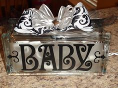 Personalized lighted glass block decor, LOVE. $29.50, via Etsy.