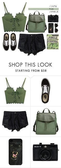 """Into the Jungle"" by juhh ❤ liked on Polyvore featuring Puma, Vans, OneTeaspoon, Skagen and Holga"