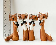 Red Fox Making a Daisy Chain - Fox Figurine by Bonjour Poupette