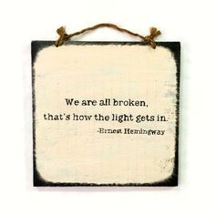 Ernest Hemingway Wood Sign / Wall Decor / Wall Quotes / Typography Art / Gifts for Him / Gifts for Her / Recovery Gift - Ivory & Black by HollyWoodTwine on Etsy https://www.etsy.com/listing/265606959/ernest-hemingway-wood-sign-wall-decor