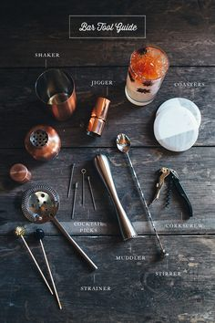 Holiday Bar Cart Essentials and Bar Tool Guide + Holiday Cocktail Recipes