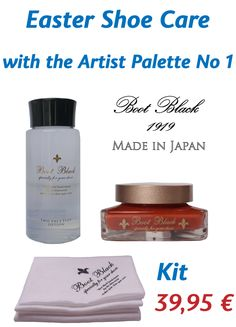 Shoe Shine Shop  Easter offer Artist Palette no 1, Two Face Plus Lotion + 1 polish cloth HIGH-END shoe care - MADE IN JAPAN High End Shoes, Black Boots, Lotion, Perfume Bottles, Palette, Polish, Easter, Japan, Face
