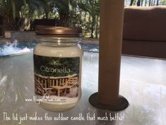 This Citronella Candle is a great addition to my back porch table.  http://www.blogwithmom.com/2016/03/citronella-candle-to-your-night/