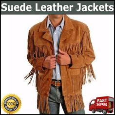 More Details = Whats app = 00923046128675............Mens Traditional Leather Western Wear Brown Suede Leather Jacket Fringe Buttons....... This fabulous Western leather jacket. Gives you style  and comfort while wearing it, be the envy of your  crowd. A great fashion western style leather jacket. Mens Leather Coats, Fringe Leather Jacket, Suede Jacket, Suede Leather, Leather Jackets, Brown Suede, Biker Jackets, Mens Fringe, Western Jackets