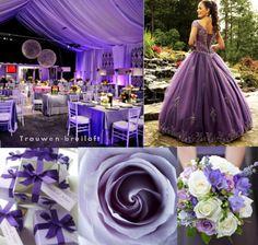 decoratie voor je bruiloft in paars