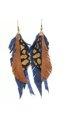Leathet earrings