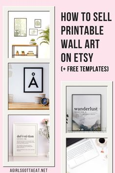 How to make and sell printable wall art on Etsy, plus free templates for getting started