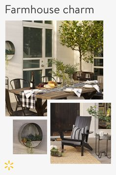 Or, you know, takeout. But you'll enjoy it best al fresco…. - Home Professional Decoration Outdoor Spaces, Outdoor Living, Outdoor Decor, Farmhouse Design, Farmhouse Decor, Modern Farmhouse, Farmhouse Mailboxes, Farmhouse Style, Home Furniture