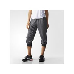adidas 2Love Cuffed Capris ($40) ❤ liked on Polyvore featuring activewear, activewear pants, adidas activewear, adidas and adidas sportswear