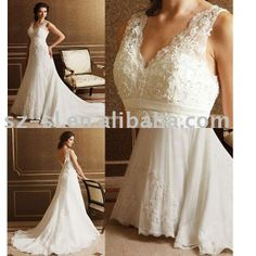 V-neck-wedding-dress-apparel-lace-sl-25.jpg (680×680)