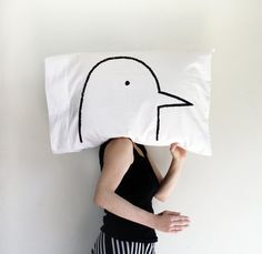 Turtle Dove Pillowcase : single bird pillow case by Xenotees