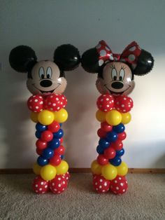 Mickey and Minnie mouse columns
