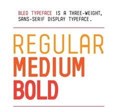 Bled Typeface