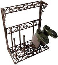 Boot Rack Shoe Holder Wellington Boot Stand Hallway Storage Outdoor Cast Iron