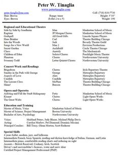 FIll In The Blank Acting Resume Template httpresumesdesigncom
