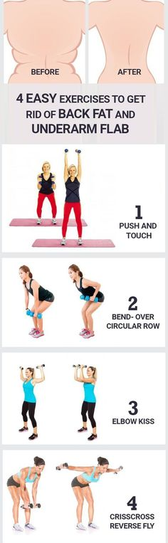 4 easy exercises to Get Rid Of Back Fat and underarm flab - mesning