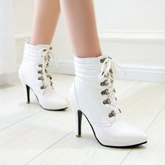 Fashion women boots for comfort and fit. A general use boot, perfect for everything from shopping to walking the dog. The boots is something which would always be in fashion no matter what is the latest fashion trend. Heel Height: 10 cm Platform Height: 1.5 cm Shaft Height: 12.5 cm Size Guide: Euro/CN 34 = US 3 = 22cm (Foot width=8-8.5cm) Euro/CN 35 = US 4 = 22.5cm (Foot width=8.5cm) Euro/CN 36 = US 5 = 23cm (Foot width=8.5-9cm Euro/CN 37 = US 6 = 23.5cm (Foot width=9cm) Euro/CN 38 = US 7…