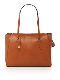 Hennessy tan large shoulder tote bag