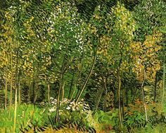 Vincent van Gogh (Dutch, Post-Impressionism, 1853-1890): The Grove, 1890. Oil on canvas, 73 x 92 cm. Private Collection.