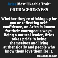 Aries. My beloved husband J'imrie of blessed memory had all these traits and more. Miss him everyday.