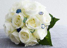 Bridal bouquet silk flowers Trouwboeket zijdebloemen