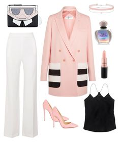 """""""Sweet black"""" by beelovem ❤ liked on Polyvore featuring Roland Mouret, MaxMara, Christian Louboutin, Karl Lagerfeld, J.Crew, Miss Selfridge, Christian Dior and MAC Cosmetics"""