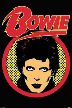 David Bowie Fridge Magnet: Flash Logo :David Bowie square metal fridge magnet with Flash Logo design. Rock Posters, Band Posters, Concert Posters, David Jones, Mayor Tom, A Saucerful Of Secrets, David Bowie Poster, Mundo Musical, Pop Art Portraits
