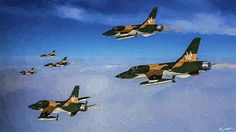 Republic F-105d Thunderchief Digital Art - Thud Rolling Thunder Vietnam - Oil by Tommy Anderson