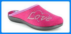 INBLU , Damen Hausschuhe rosa Veilchenblau 38, rosa - Veilchenblau - Größe: 39 EU - Hausschuhe für frauen (*Partner-Link)