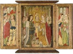 The Marriage of Edward IV and Elizabeth Woodville  By Spanish Forger  Date Painted: 1880–1910  From: Northampton Museums & Art Gallery  Elizabeth switched allegiances from Lancaster to York and was married to the King of England.     In contrast to this painting, the only guests at the couple's secret marriage were Elizabeth's mother and two of her sisters.