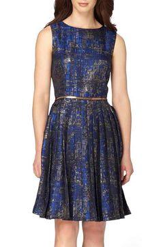 Tahari Jacquard Fit & Flare Dress (Regular & Petite)