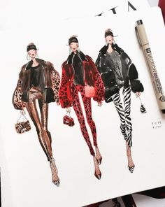 Fashion Sketchbook Inspiration Artists - Famous Last Words Couture Mode, Style Couture, Couture Fashion, Fashion Art, Trendy Fashion, Artist Fashion, Fashion Poses, Illustration Mode, Fashion Illustration Sketches